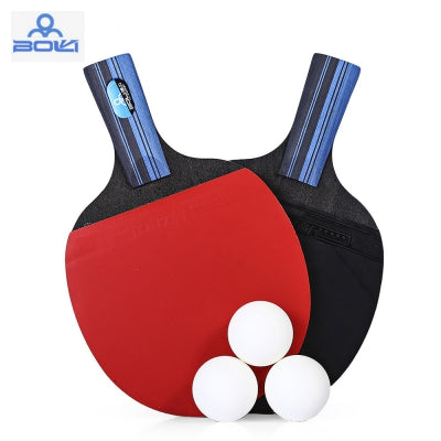 BOLI A10 2pcs / Set Table Tennis Ping Pong Racket with Ball