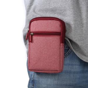 Universal Denim Leather Cell Phone Bag Belt Clip Pouch Waist Purse Case Cover For All SmartPhone Below 6.3 Inc......