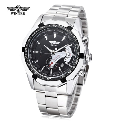 WINNER W050 Male Auto Mechanical Watch Chronograph Date Display Wristwatch
