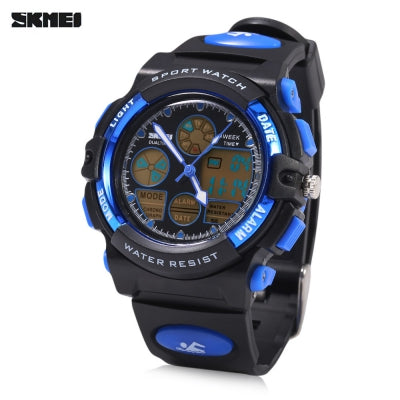 SKMEI 1163 Dual Movt Quartz Watch LED Digital Light Luminous Pointer Calendar Chronograph Display Wristwatch
