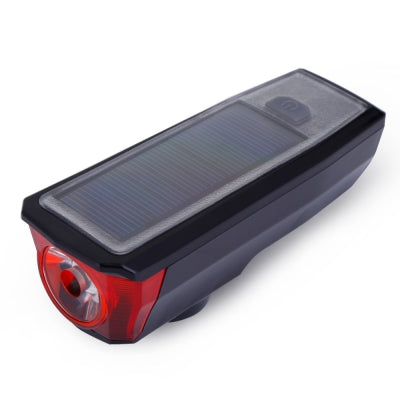 USB Rechargeable Solar Energy Bicycle Front Light Tail Lamp