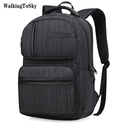 WalkingToSky Brand Backpacks for Men Women School Bag 15.6 Inch Computer Classic Business Bags Travel College