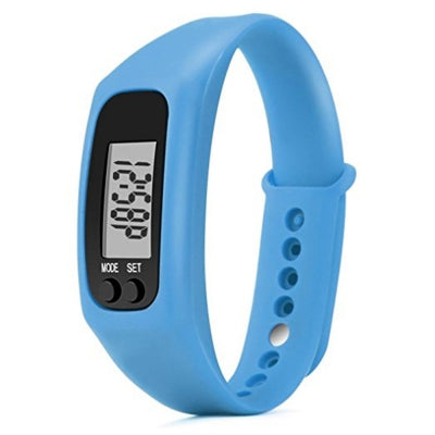 Run Step Watch Sport Bracelet Fitness Tracker Pedometer Calorie Counter Digital LCD Walking Distance