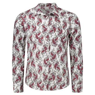 Long Sleeve Paisley Printed Shirt