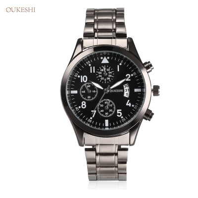 OUKESHI 3151717 Male Business Quartz Wristwatch for Men