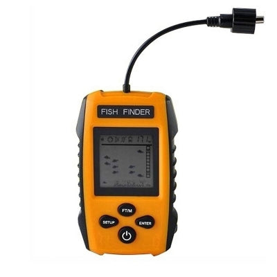 Portable Fish Finder Wired Sonar Sensors and Liquid Crystal Displays