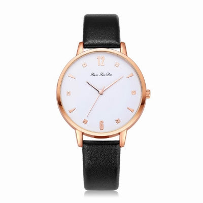 Fanteeda FD138 Women Classic Leather Band Quartz Wrist Watch