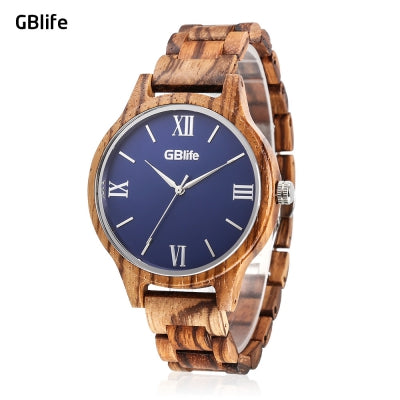 GBlife MF - 001 Men Quartz Wooden Watch