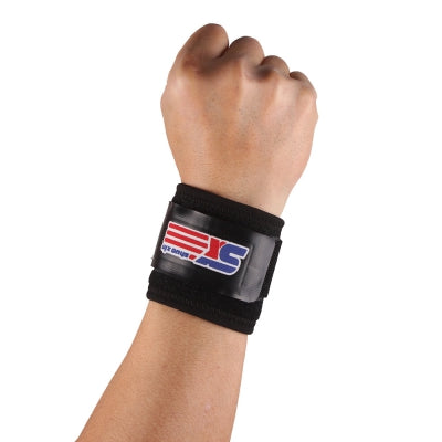 Shou Xin SX601 Classic Sports Gym Elastic Stretchy Wrist Joint Brace Support Wrap Band - Black