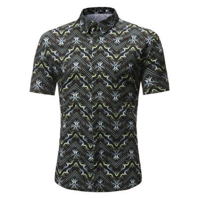 A New Men's Short-Sleeved Printed Shirt.