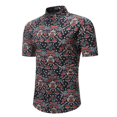 Men's Summer Short-Sleeved Casual Print Shirts
