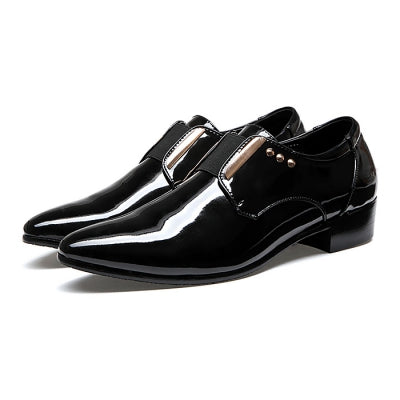 Business Golssy Rivet Decorative Casual Formal Dress Shoes for Men