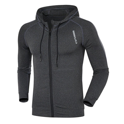 Hooded Long Sleeve Quick-dry Men Close-fitting Hoodie