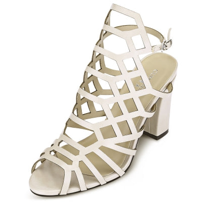 Peep-toe Hollow Out Chunky Heel Buckle Women Sandals