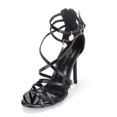 Pointed Toe High Heel Ankle-high Women Gladiator Sandals