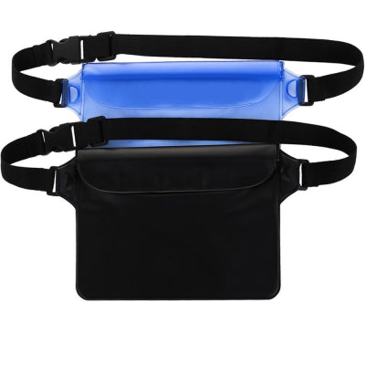 Portable Durable Waterproof Pouch Dry Bag with Adjustable Strap Perfect for Beach Pool Swimming Boating 2-Pack