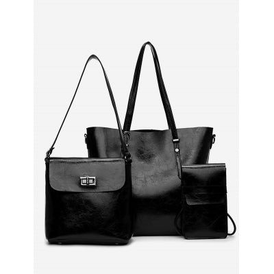Minimalist Shopping 3 Pieces Shoulder Bag Set