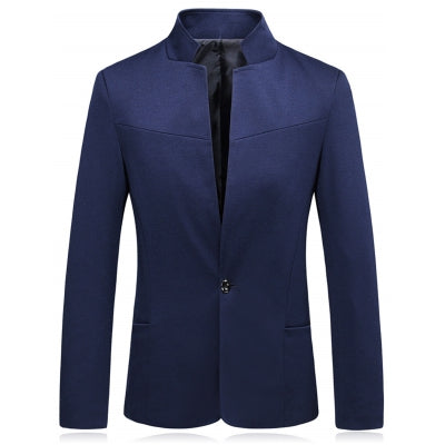 Stand Collar One Button Slim Fit Blazer