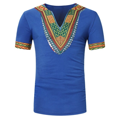 Men Casual Short Sleeve T Shirts V-neck Slim Fit Tops Summer