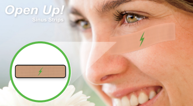 Open Up! Sinus Strips for Natural Decongestion. Latex-Free, Drug-free, Homeopathic + Mineral Formula  (24-Strip Pack)