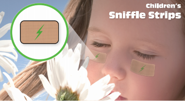 Sniffle Strips - New! All Natural Decongestant Strips for Children.  Latex-Free, Drug-free, Homeopathic + Mineral Formula  (24-Strip Pack)