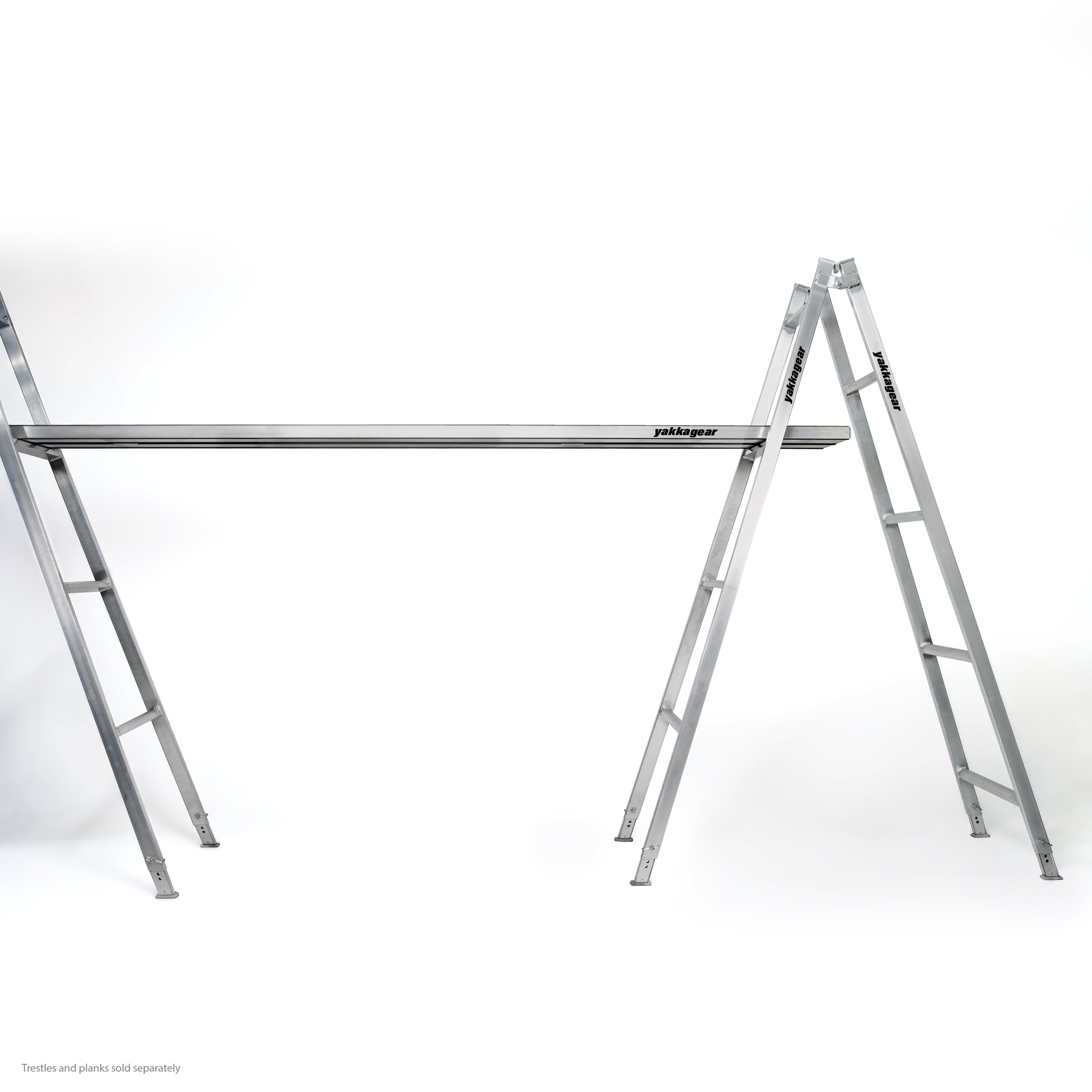 aluminium adjustable trestle - overview - yakka gear