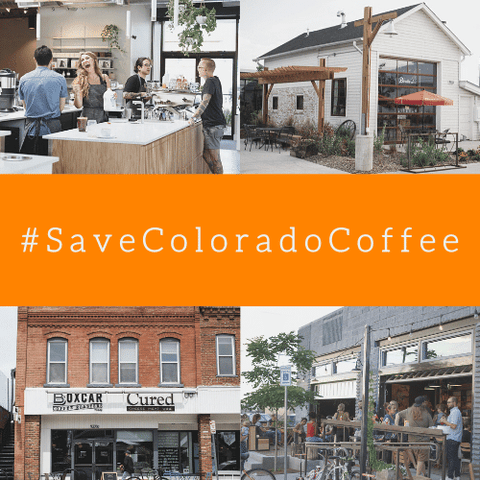 Save Colorado Coffee with photos of coffee roasters