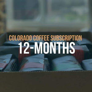 Colorado Coffee Subscription: 12-Month Gift with specialty coffee bags from Queen City Collective Coffee