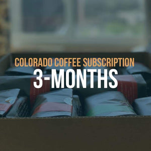 Colorado Coffee Subscription: 3-Month Gift with bags of specialty coffee from Queen City Coffee Collective