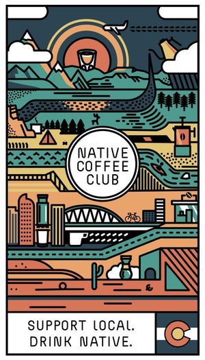(1) Native Coffee Club Colorado Sticker - Native Coffee Club