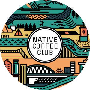(1) Native Coffee Club Colorado Sticker - Circle - Native Coffee Club