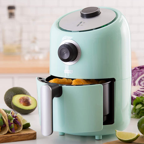 compact air fryer turquoise dash