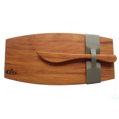 rimu cheese board wood platter with knife