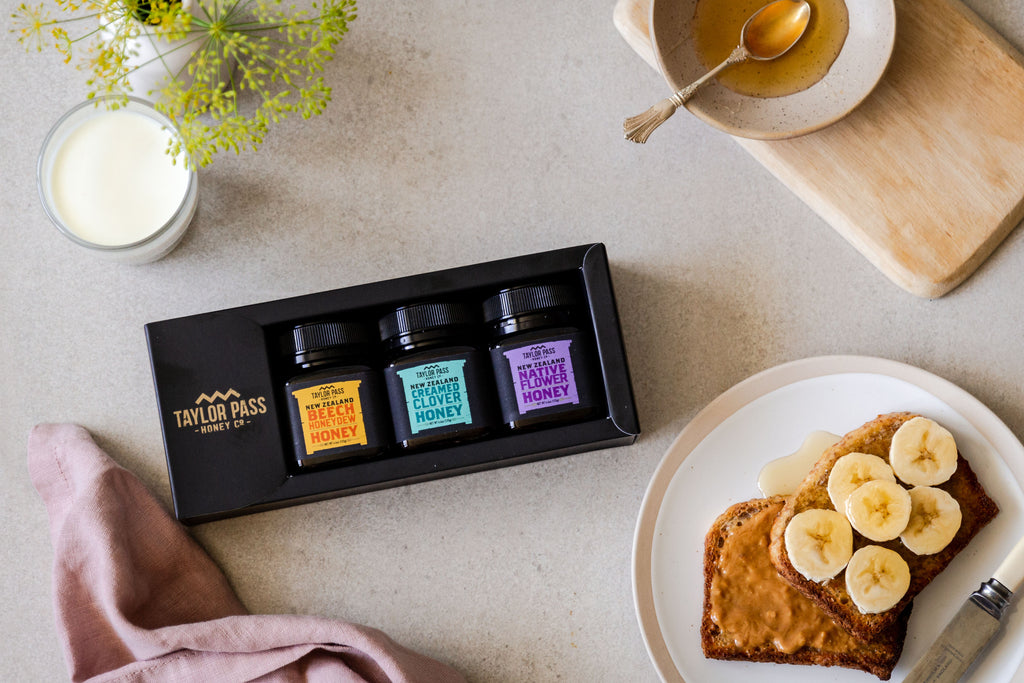 taylor pass floral new zealand honey gift pack