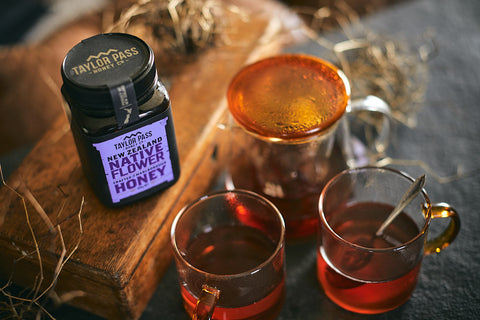 taylor pass new zealand honey native flower hot tea