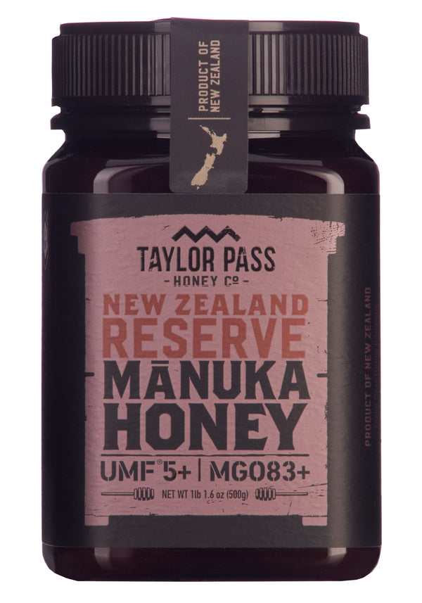 Taylor Pass Honey Co Manuka Honey Reserve UMF 5+ MGO83+ 1 lb 1.6oz