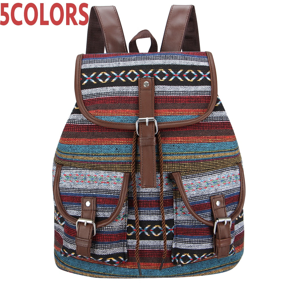 Aztec Woman's Vintage Backpack