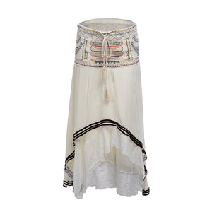 Embroidered Gypsy Cotton Skirt