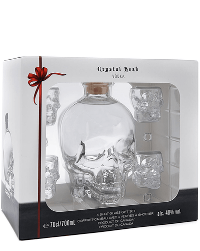 Shop Crystal Head Gift Pack with Shot Glasses | Dan Aykroyd, 70cl at The Bottle Club
