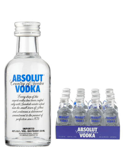 Image: Absolut Vodka 12 x 5cl Miniature Pack