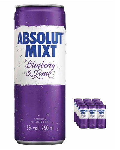 Image: Absolut Mixt Blueberry & Lime Can Multipack, 12 x 125 ml