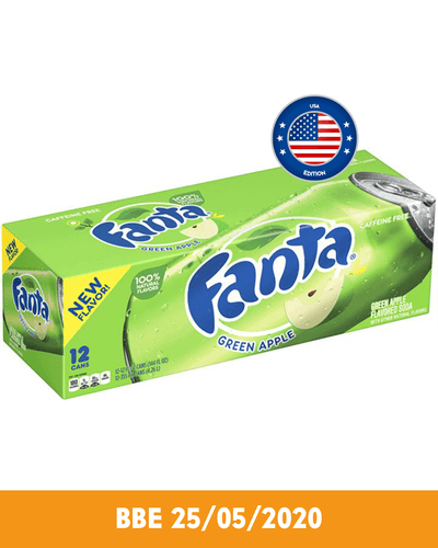 Image: American Fanta Green Apple Soda Multipack, 12 x 355 ml