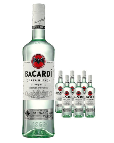 Image: Bacardi Carta Blanca Rum (Case of 6 x 70 cl Bottles)