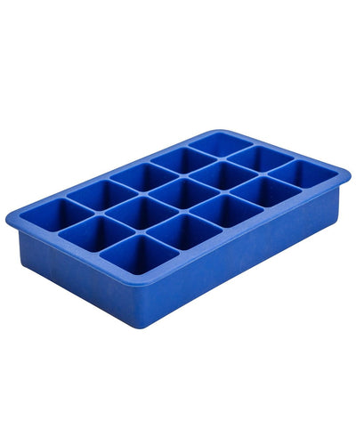 Image: Beaumont 15 Cavity Blue Silicone Ice Cube Mould
