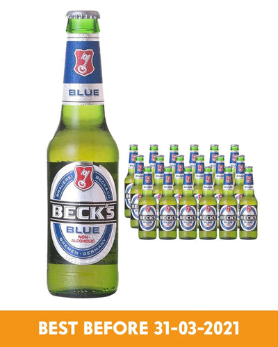 Image: Becks Blue Alcohol Free Beer Bottle Multipack, 24 x 275 ml