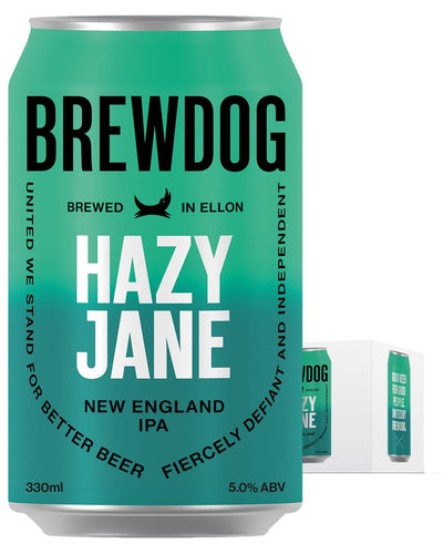 Image: BrewDog Hazy Jane Beer Can Multipack, 4 x 330 ml