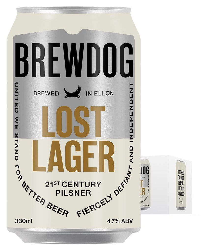 BrewDog Lost Lager Can Multipack, 4 x 330 ml