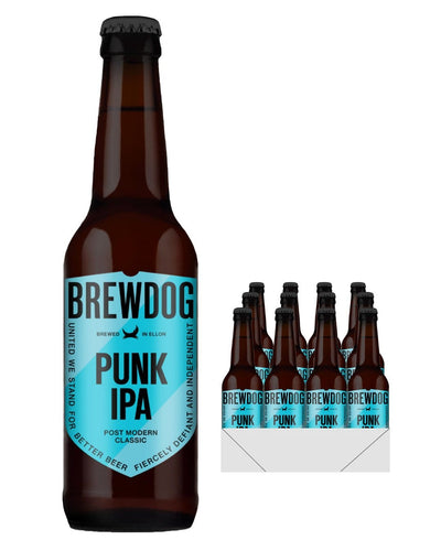 Image: BrewDog Punk IPA Beer, 12 x 330 ml Multipack