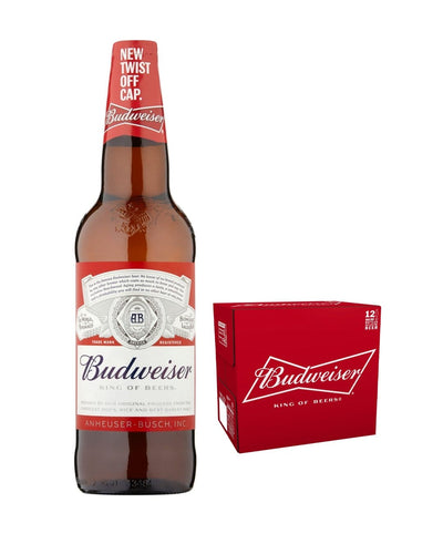Image: Budweiser Premium Lager Bottle Multipack, 12 x 660 ml