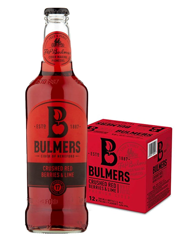 Bulmers Crushed Red Berries & Lime Cider Multipack, 12 x 500 ml